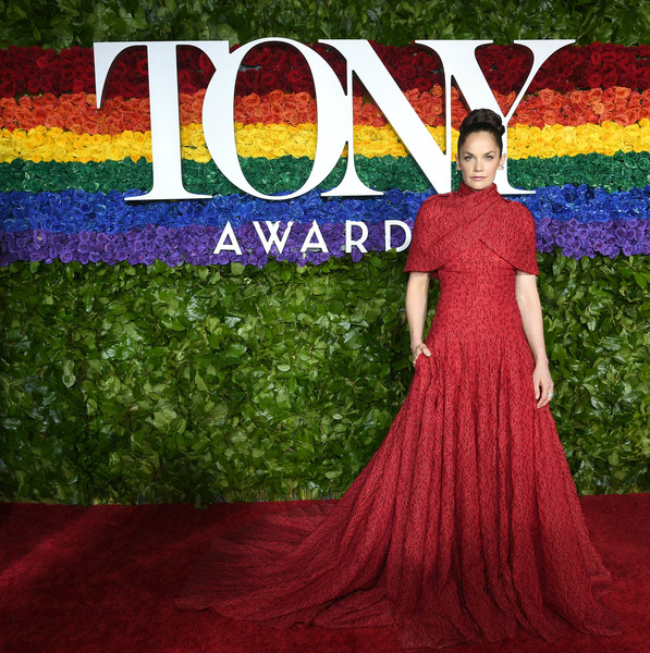 Ruth Wilson Evening Dress [red carpet,dress,clothing,purple,fashion,gown,magenta,carpet,formal wear,haute couture,fashion design,ruth wilson,tony awards,new york city,radio city music hall,annual tony awards]