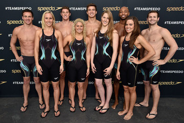 Ryan Lochte Conor Dwyer The New York Launch of Team Speedo and Speedo's Fastskin LZR Racer X