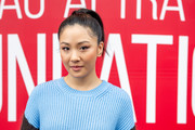 Constance Wu opted for a simple ponytail when she attended the SAG-AFTRA Foundation Conversation: 'Hustlers.'