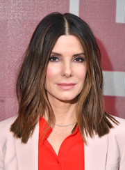 Sandra Bullock was stylishly coiffed with this mid-length wavy 'do at the SAG-AFTRA Foundation Conversations: 'Bird Box.'