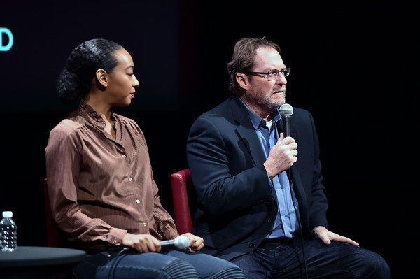 More Pics of Betty Gabriel Ponytail (1 of 10) - Betty Gabriel Lookbook - StyleBistro [stephen root,betty gabriel,lil rel howery,sag-aftra foundation conversations: ``get out,event,conversation,performance,interaction,convention,adaptation,spokesperson,academic conference,speech,public speaking,robin williams center,new york city]