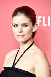 Kate Mara wore her hair in a low ponytail at the SAG-AFTRA Foundation Patron of the Artists Awards.