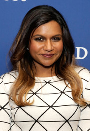 Mindy Kaling sported cool and chic ombre waves during the 'Mindy Project' press junket.