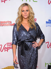 Brooklyn Decker complemented her sparkly gown with a grayish-lavender nail lacquer.