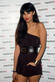 Jameela Jamil was spotted at the Swatch & Art Collection launch sporting a sexy super-short romper.