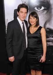 Daniel Espinosa wore a black sheath dress to the NY 'Safe House' premiere.