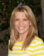 Vanna White sported a trendy layered cut during Safe Kids Day.