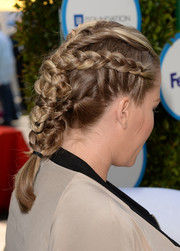 Kendra Wilkinson attended Safe Kids Day looking cute with her multiple braids.