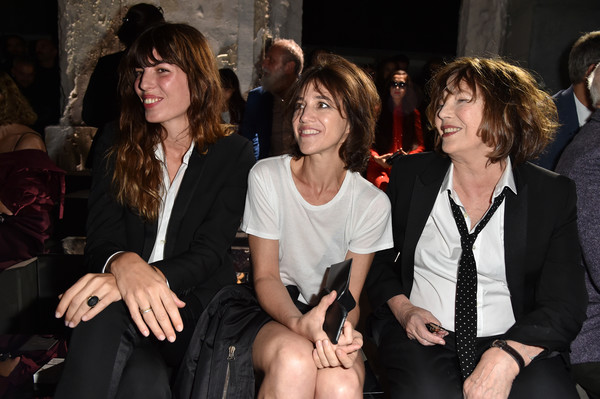 Lou Doillon, Charlotte Gainsbourg and Jane Birkin at Saint Laurent