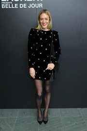 Chloe Sevigny looked festive in a star-beaded velvet dress by Saint Laurent at the 'Belle de Jour' 50th anniversary screening.