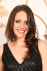 Carly Chaikin styled her hair with piecey layers for the LoveGold party honoring Lupita Nyong'o.
