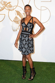Samira Wiley amped up the sexy vibe with a pair of black gladiator heels.