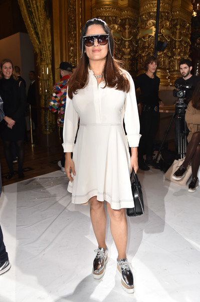 Salma Hayek Shirtdress
