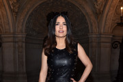 Salma Hayek Leather Dress