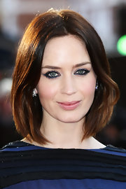 Emily Blunt arrived at the European premiere of 'Salmon Fishing in the Yemen' wearing her glossy mane in a polished-looking bob.