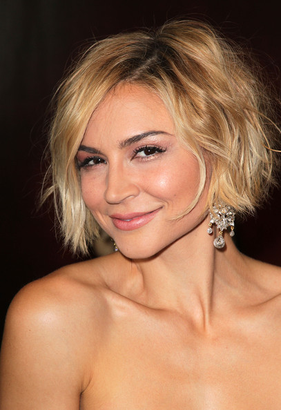 Samaire Armstrong Messy Cut [let me in,hair,eyebrow,blond,beauty,human hair color,chin,hairstyle,lip,cheek,layered hair,samaire armstrong,arrivals,california,los angeles,bruin theatre-westwood village,overture films,premiere,film premiere]