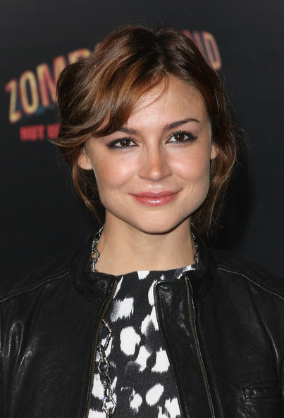 Samaire Armstrong Short Wavy Cut [zombieland,hair,face,hairstyle,eyebrow,lip,chin,beauty,forehead,blond,brown hair,arrivals,samaire armstrong,los angeles,california,sony pictures,premiere,premiere]