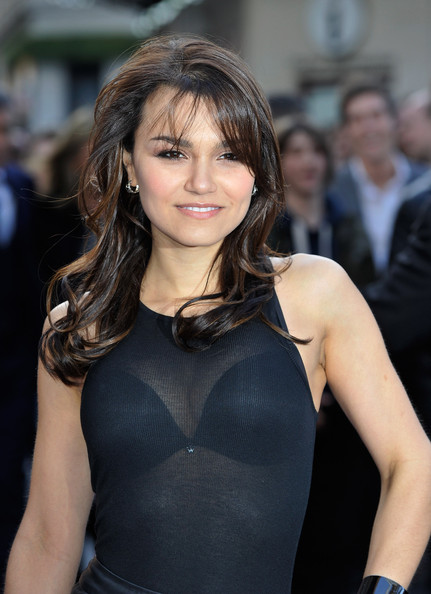 Samantha Barks Long Wavy Cut with Bangs