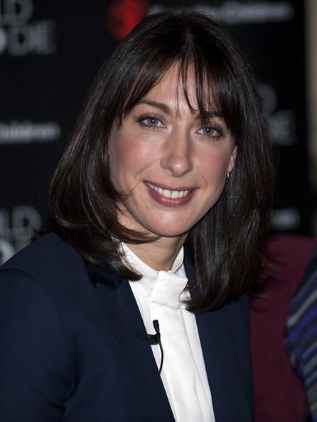 Samantha Cameron looked very professional in a straight cut with front bangs at a charity event in London.