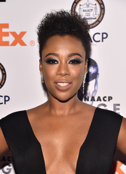 Samira Wiley Fauxhawk [hair,hairstyle,eyebrow,beauty,black hair,forehead,lip,eyelash,lace wig,croydon facelift,samira wiley,naacp image awards,dinner,pasadena,california,the pasadena civic auditorium,ceremony,naacp image awards non-televised award show]
