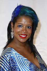 Kelis rocked a layered and multi-colored hair cut while hitting a New York Gala.