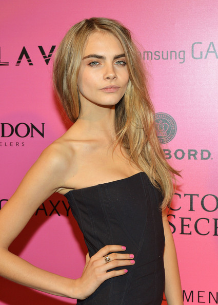 More Pics of Cara Delevingne Little Black Dress (1 of 2) - Cara Delevingne Lookbook - StyleBistro