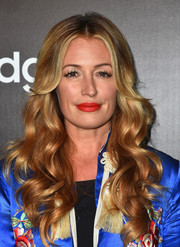 As always, Cat Deeley was fabulously styled with glowing curls at the Samsung launch party.