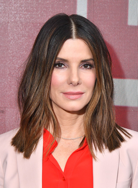 Sandra Bullock Medium Wavy Cut