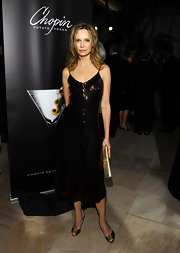 Calista Flockhart opted for a sequined dress for her sparkly evening look at the Santa Barbara Film Festival.