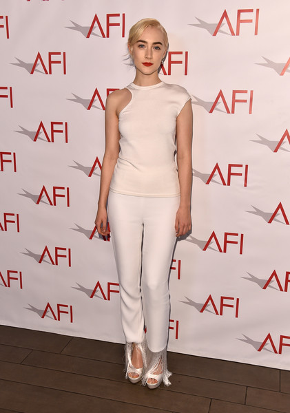 Saoirse Ronan Peep Toe Pumps [white,clothing,shoulder,fashion model,fashion,red carpet,hairstyle,dress,carpet,neck,arrivals,saoirse ronan,los angeles,four seasons hotel,california,beverly hills,afi awards]