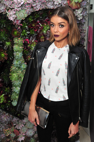 Sarah Hyland Metallic Clutch