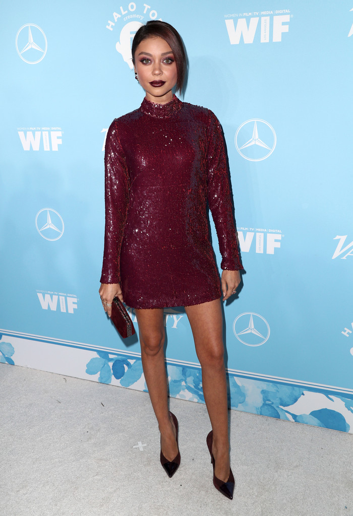 Sarah Hyland Sequin Dress Sarah Hyland Looks Stylebistro