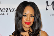Sarah-Jane Crawford Bright Lipstick