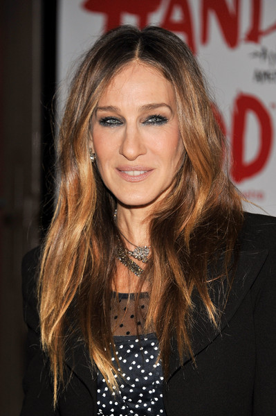 Sarah Jessica Parker Smoky Eyes [hair,hairstyle,face,blond,long hair,eyebrow,layered hair,brown hair,hair coloring,lip,sylvia,sarah jessica parker,curtain call,new york city,cort theatre,opening night - arrivals]