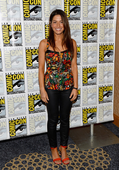 Sarah Shahi Leather Pants