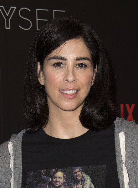 Sarah Silverman Long Side Part [hair,face,hairstyle,eyebrow,chin,beauty,lip,cheek,forehead,black hair,arrivals,sarah silverman,author,producer,writer,a speck of dust,for your consideration,netflix,event,event]
