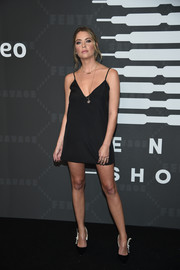 Ashley Benson opted for a little black slip dress by Reformation when she attended the Savage X Fenty show.