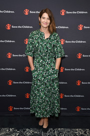 Cobie Smulders looked fresh and sweet in a green floral dress at the International Day of the Girl celebration.