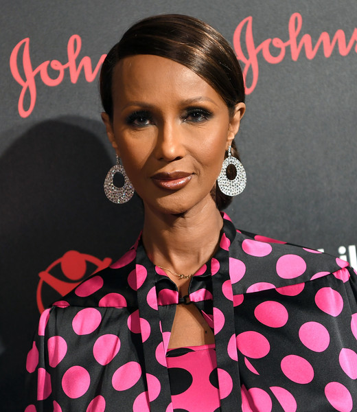 Iman pulled her hair back into a classic chignon for the Save the Children Illumination Gala.