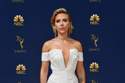 Scarlett Johansson Off-the-Shoulder Dress