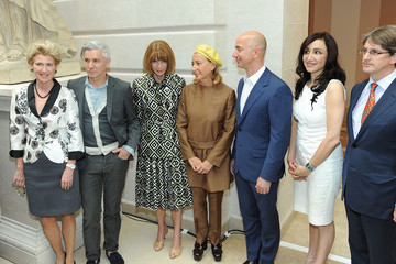 "Miuccia Prada Jeff Bezos ""Schiaparelli And Prada: Impossible Conversations"" Costume Institute Exhibition - Press Preview"