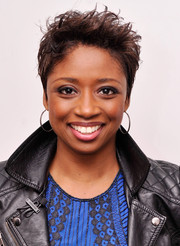 Montego Glover channeled her inner rockstar with this messy cut at the 'Made in NY' Talks: African American Actors.