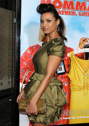 Jessica Lucas looked modern with her hair styled in a pompadour at the screening 'Big Mommas: Like Father, Like Son.'