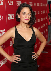 Jenny Slate contrasted her dark outfit with a pastel blue mani for the Hollywood screening of 'Obvious Child.'