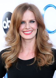 Rebecca Mader oozed ultra-feminine appeal with her feathered flip hairstyle at the 'Once Upon a Time' season 4 screening.