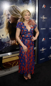 Chloe Grace Moretz donned a sheer, color-block dress by Marc Jacobs for the screening of 'The 5th Wave.'
