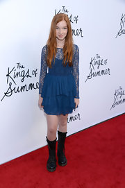 Annalise Basso chose this long-sleeve tiered dress for her look at the premiere of 'The Kings of Summer.'