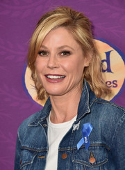 Julie Bowen styled her hair into a half-up 'do with side-swept bangs for the screening of 'Tangled Before Ever After.'