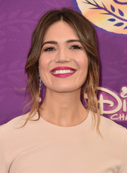 Mandy Moore's berry lipstick looked lovely against her neutral-toned dress at the screening of 'Tangled Before Ever After.'