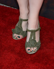 Valorie Curry's strappy sandals had a tough edgy feel to them.